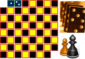 Can dominos cover a chess board with 2 missing squares?